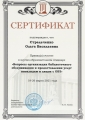 Сертификат Стрельченко Ольга  Васильевна